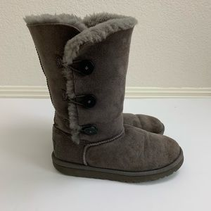 UGG | Bailey Tall Triple Button Gray Boots 7